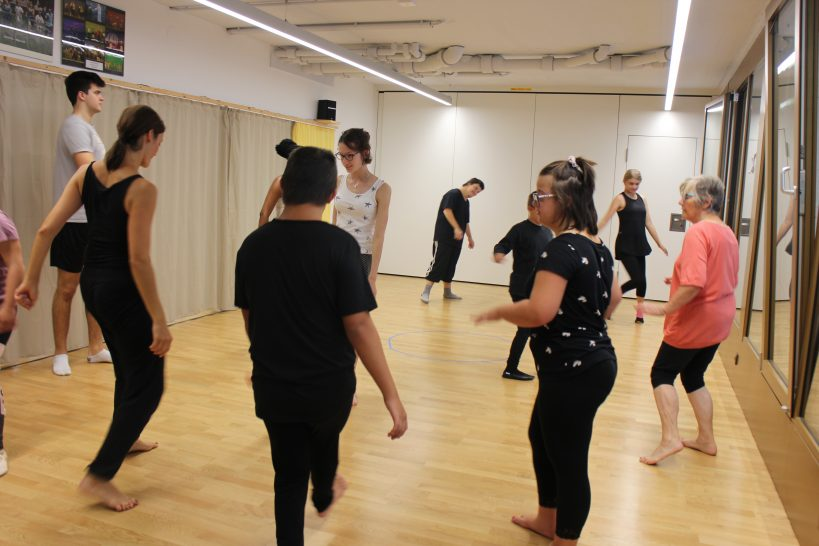 Studio mit Tänzern