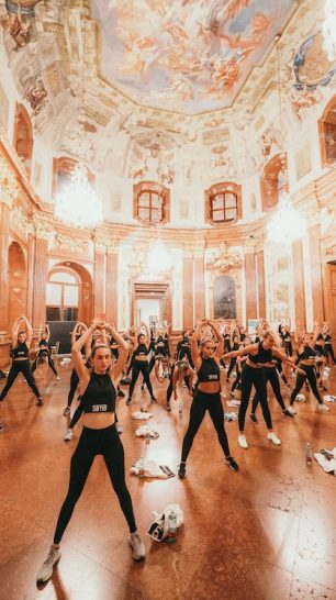 Workout im Belvedere