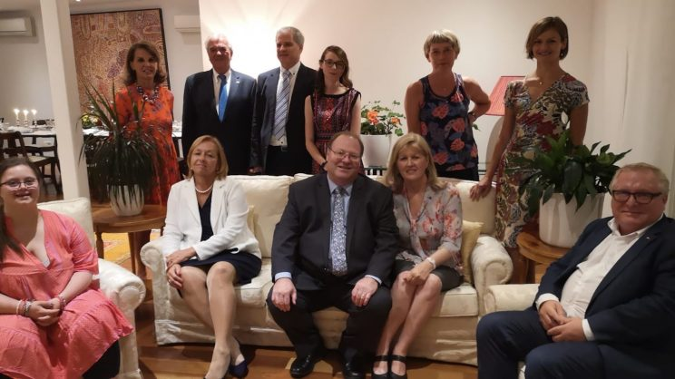 Empfang in der australischen Botschaft